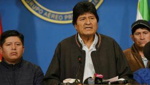 Evo Morales, durante un discurso