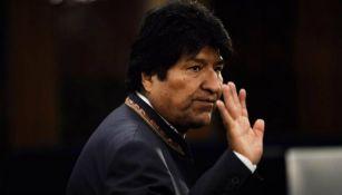 Evo Morales, durante un evento