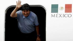 Evo Morales, en su llegada a México