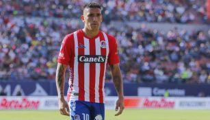 Ricardo Centurión en juego con Atlético de San Luis