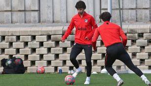 Joao Félix, en entrenamiento con el Atlético de Madrid