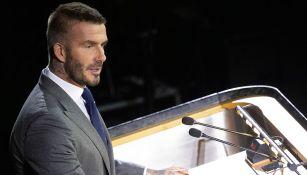 David Beckham, durante un evento