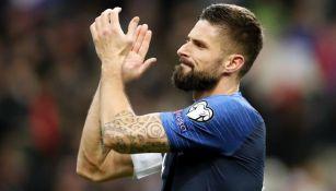 Giroud, en un partido de Francia