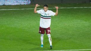 Uriel Antuna en juego con la Selección Mexicana