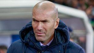 Zidane, en un juego del Real Madrid