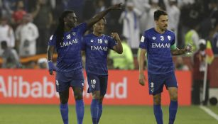 Jugadores del Al-Hilal celebran el gol ante el Esperance de Túnez