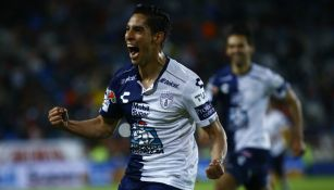 Pachuca en celebración de gol