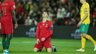 Cristiano Ronaldo en acción con Portugal