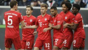 Jugadores del Bayern celebrando una anotación