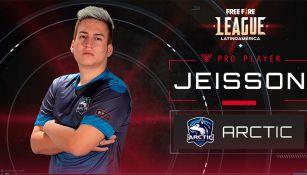Jeisson Cedeño, jugador ecuatoriano del equipo Arctic Gaming