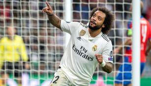 Marcelo durante un compromiso con el Real Madrid