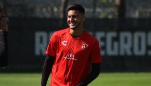 Alejandro Gómez durante un entrenamiento con Atlas