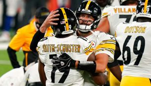 Los Steelers celebran una anotación sobre Giants