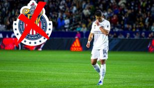 Chicharito en partido con el Galaxy