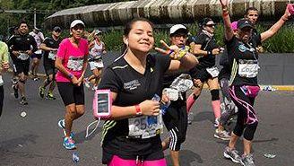 Corredores, durante el Maratón de la CDMX