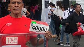 Miguel Vargas, ha participado en las 34 ediciones del Maratón