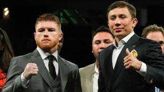 Canelo y Golovkin, en la presentación de la pelea