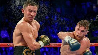 Gennady Golovkin recibe un fuerte golpe de Saúl 'Canelo' Álvarez