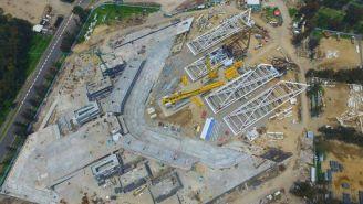Así luce la construcción del Estadio Alfredo Harp Helú