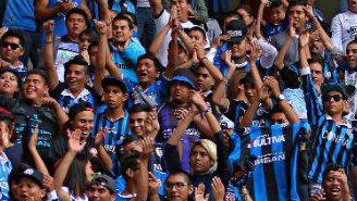 Afición de Querétaro durante un partido