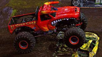 Una truck en el evento de Monster Jam en México