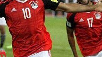 Salah celebra una anotación con Egipto