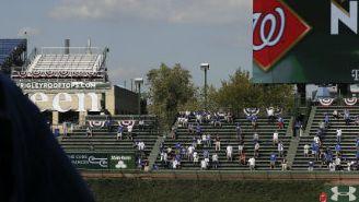 Imagen de las tribunas de Wrigley Field en un partido de Cubs