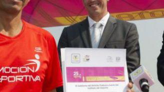 Benjamín Paredes en la presentación del XXXI Maratón de la Ciudad de México