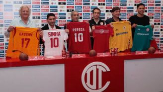 Grassire, 'Sinha', Pereda, Cristante y Talavera en conferencia de prensa