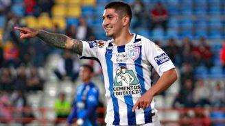 Guzmán celebra el único gol del partido