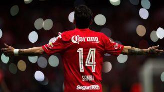 Rubens, durante un juego con Toluca
