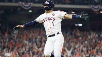Correa brinca de felicidad tras su home run
