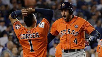 Springer y Correa celebran una anotación