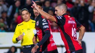 Malcorra celebra el tanto del empate parcial de Xolos