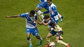 Diego Lainez intenta hacer daño al cuadro de Puebla