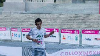 Primer participante en cruzar la meta de la carrera