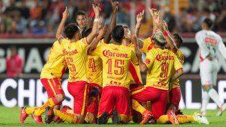 Así festejó el Morelia tras un gol contra Necaxa