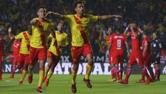 Monarcs festeja gol de Ángel Zepulveda frente a Toluca
