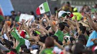 Afición mexicana durante un partido del Tri