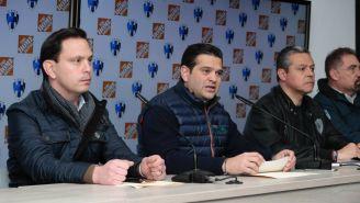 Bernardo González, Francisco Cienfuegos y Tonatiuh Mejia en conferencia de prensa