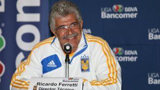 Tuca Ferreti durante el día de medios de la Final Regia