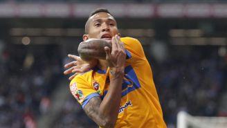 Francisco Meza celebrando el gol del título para Tigres