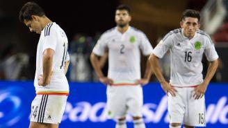 Jugadores del Tri se lamentan en la goleada contra Chile de 2016