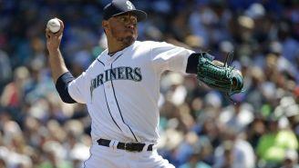 Gallardo realiza un lanzamiento con los Marineros de Seattle