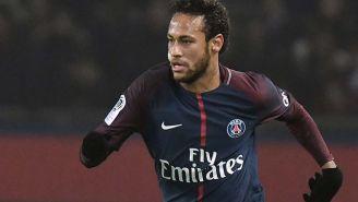 Neymar, en un partido con el PSG