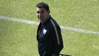 David Patiño, en un juego de pretemporada de Pumas