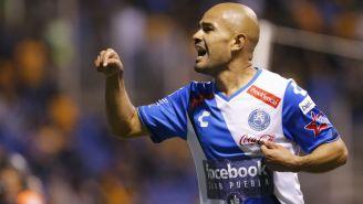 Acuña festeja su gol contra Tigres en la J1 del C2018