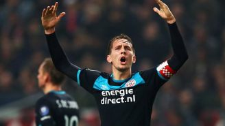 De Jong, en un partido con el PSV