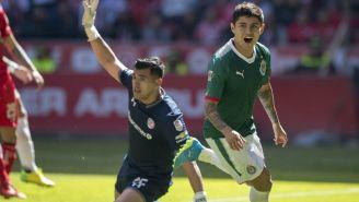 Eduardo López celebra el gol del empate contra Toluca