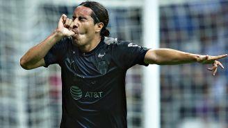 Juárez celebra un gol con Monterrey